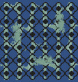 brushed quatrefoil blue seamless pattern vector image vector image