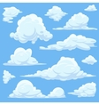 cartoon clouds in blue sky vector image vector image
