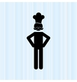 chef avatar silhouette design vector image vector image