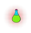 Chemical laboratory transparent flask icon vector image vector image
