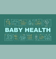 child health word concepts banner vector image vector image