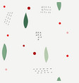 christmas flower winter season collage pattern vector image