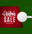christmas holiday sale with copy space vector image vector image