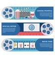 cinema festival horizontal banners set of vector image
