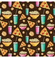 Colorful Sleepover Movie Night Party Food vector image