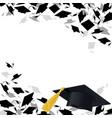 congratulatory background with graduate caps vector image vector image