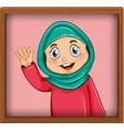 cute muslim girl picture in photo frame