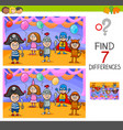 differences game with kids on masked ball