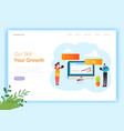 digital marketing technology landing page vector image vector image