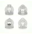 Doctor mines worker lumberjack teacher icons vector image