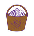 eggs easter day vector image