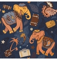 Elephant Seamless pattern vector image