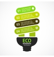energy efficient light bulb arrows green vector image