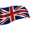 england flag isolated on white background vector image