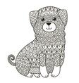 entangle dog for coloring page shirt design log vector image