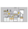 fancy interior kitchen furnished vector image