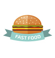 Fast food logo vector image vector image