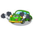 fitness classic car isolated in cartoon vector image