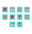 flat color anniversary icon set vector image vector image
