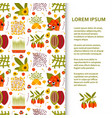 flat poster or banner template with superfood vector image vector image