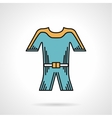 Flat style icon for wetsuit vector image vector image