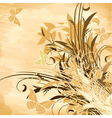 Flowers on papyrus background vector | Price: 1 Credit (USD $1)