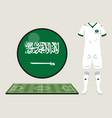 football saudia arabia sport wear vector image