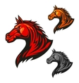 Furious horse icons Stylized stallion emblems vector image vector image