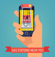 Gas Station Search on an Android vector image vector image