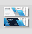 geometric modern blue business presentation vector image vector image