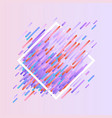 glitched geometric colorful banner with distortion vector image vector image
