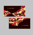 gold and red wavy geometric abstract pattern vector image
