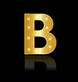 Golden letter b shiny symbol