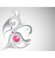 gray curl and pink beads vector image vector image