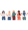 group women with different nationalities vector image