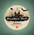 Halloween treats message design vector image