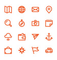 hand drawn flat icons vector image vector image