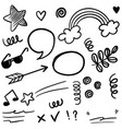 hand drawn set doodle elements for concept design vector image vector image