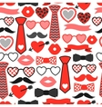 Happy valentines day seamless pattern Hipster vector image vector image