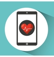 healthcare app cardiology heart graphic vector image vector image