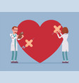 heart treatment by doctors vector image