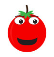 isolated happy tomato emote vector image