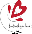 Lead With Heart vector image vector image