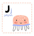 letter j funny alphabet for young children vector image vector image