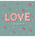 Love candy vector image vector image