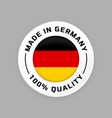 made in germany circle german flag label icon vector image vector image