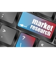market research word button on keyboard business vector image