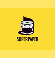 modern professional logo super paper for to combat vector image