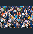 people crowd 02 vector image vector image