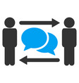 persons exchange messages icon vector image